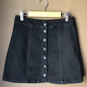 NWOT Mudd Black Button Down Mini Skirt Women's 4